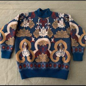 Stunning Patterned 100% Wool Sweater